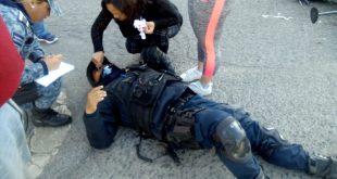 Policía choque