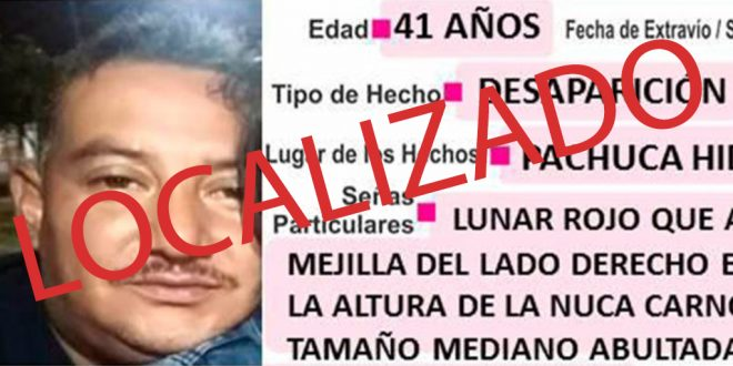 José Roberto Vega Gutiérrez ya fue localizado