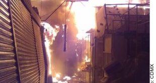Se registra incendio en Mercado de San Cosme en la CDMX