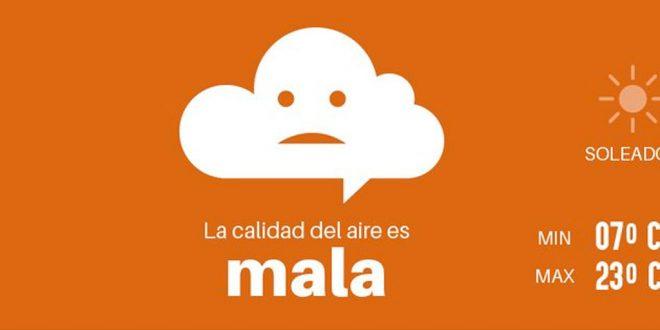 Mala calidad de aire en Pachuca