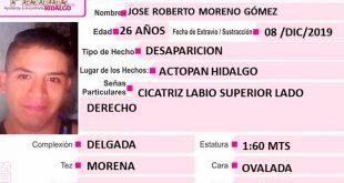 José Roberto Moreno Gómez desapareció en Actopan