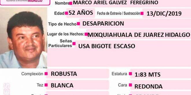 Se busca a Marco Ariel Galvez Feregrino