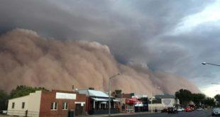 Australia sufre ahora por tormentas de arena y granizadas