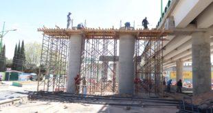 Avanzan obras en Supervía Colosio y bulevar G. Bonfil, en Pachuca