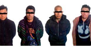 Detiene SSPH a cuatro desvalijadores en Tepeapulco