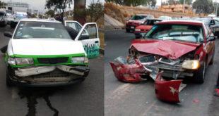 Dos lesionados tras choque sobre la carretera Pachuca-Tulancingo
