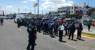 En operativo de Guardia Nacional, retienen a policías