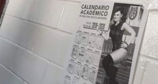 ¿Maribel Guardia en un calendario del Instituto Politécnico Nacional?